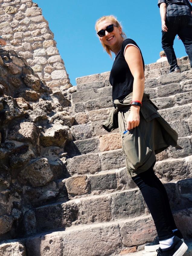 Andrea Jewett Climbing the Steps