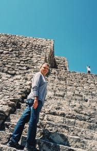 Rick Climbing with Andrea